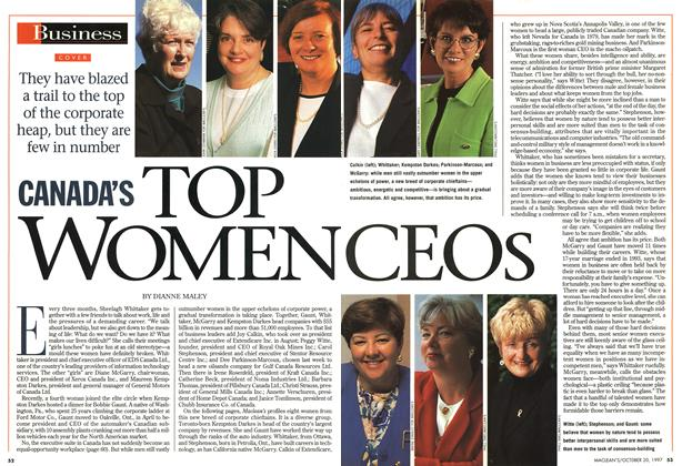 Article Preview: CANADA'S TOP WOMEN CEOS, October 1997 | Maclean's
