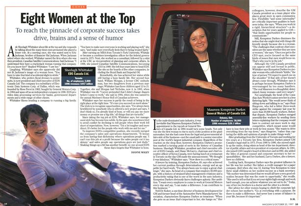 Article Preview: Eight Women at the Top, October 1997 | Maclean's