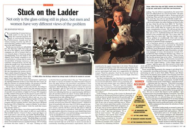 Article Preview: Stuck on the Ladder, October 1997 | Maclean's
