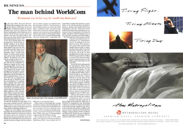 Article Preview: The man behind WorldCom, October 1997 | Maclean's