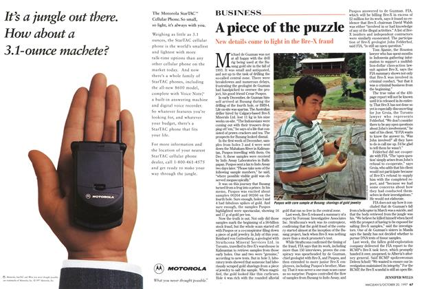 Article Preview: A piece of the puzzle, October 1997 | Maclean's