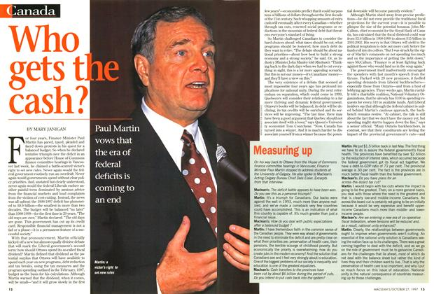 Article Preview: Who gets the cash?, October 1997 | Maclean's