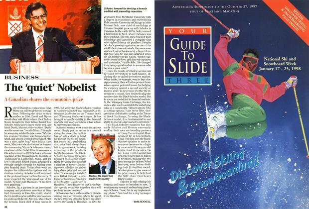 Article Preview: The 'quiet' Nobelist, October 1997 | Maclean's