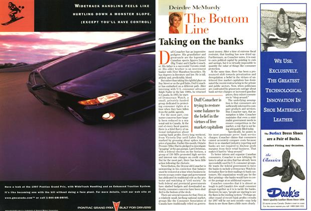 Article Preview: Taking on the banks, October 1997 | Maclean's
