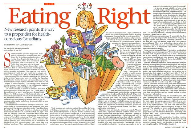 Article Preview: Eating Right, October 1997 | Maclean's