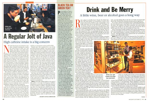 Article Preview: Drink and Be Merry, October 1997 | Maclean's