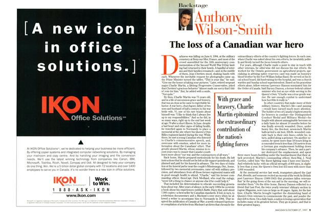 Article Preview: The loss of a Canadian war hero, October 1997 | Maclean's