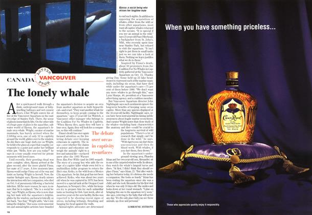 Article Preview: The lonely whale, November 1997 | Maclean's