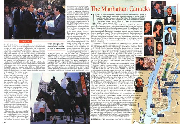 Article Preview: The Manhattan Canucks, November 1997 | Maclean's