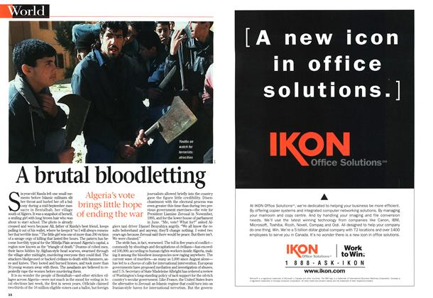 Article Preview: A brutal bloodletting, November 1997 | Maclean's