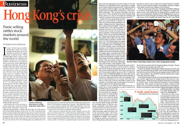 Article Preview: Hong Kong's crisis, November 1997 | Maclean's