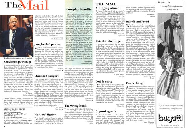 Article Preview: The Mail, November 1997 | Maclean's