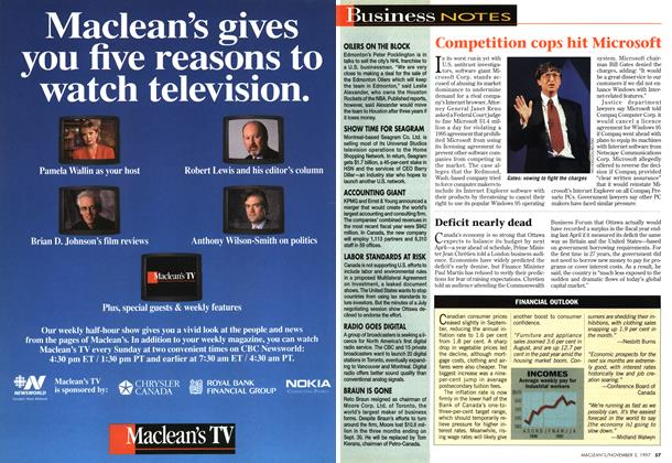 Article Preview: Business NOTES, November 1997 | Maclean's