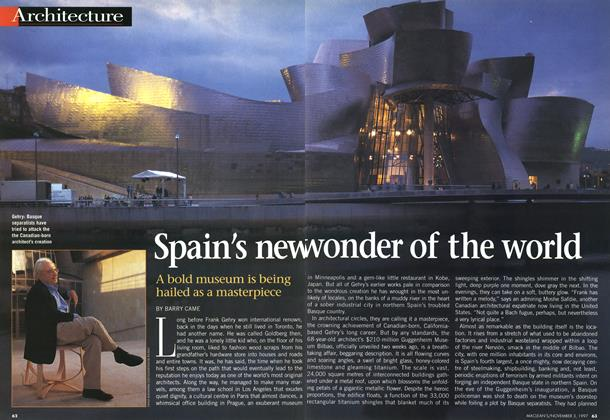 Article Preview: Spain's new wonder of the world, November 1997 | Maclean's