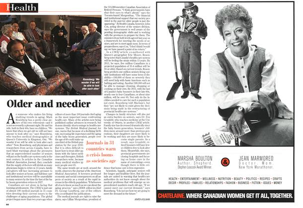 Article Preview: Older and needier, November 1997 | Maclean's