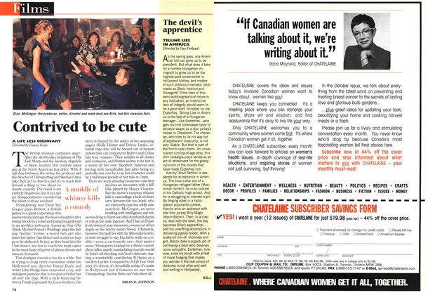 Article Preview: Contrived to be cute, November 1997 | Maclean's