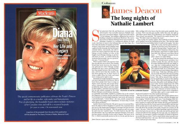 Article Preview: The long nights of Nathalie Lambert, November 1997 | Maclean's