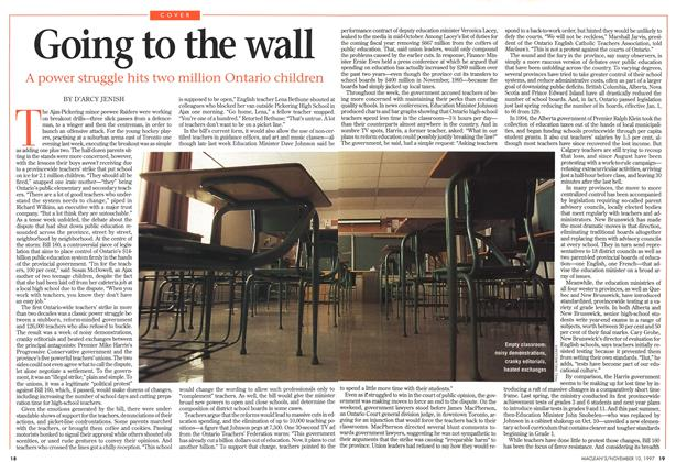 Article Preview: Going to the wall, November 1997 | Maclean's