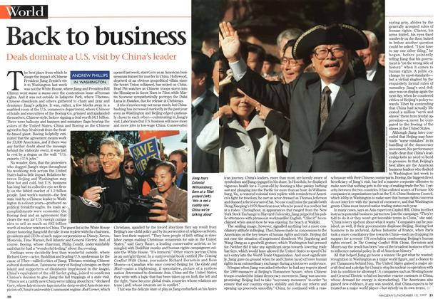 Article Preview: Back to business, November 1997 | Maclean's