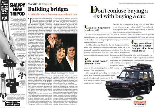 Article Preview: Building bridges, November 1997 | Maclean's