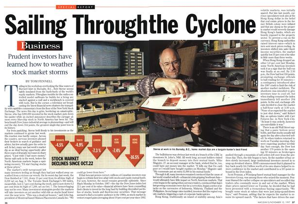 Article Preview: Sailing Through the Cyclone, November 1997 | Maclean's