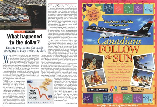 Article Preview: What happened to the dollar?, November 1997 | Maclean's