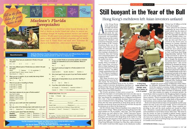 Article Preview: Still buoyant in the Year of the Bull, November 1997 | Maclean's