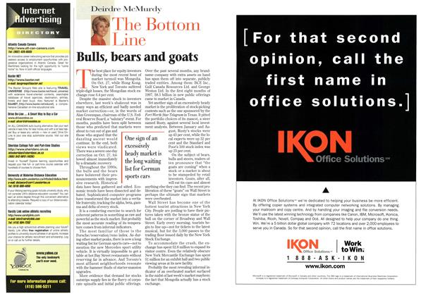 Article Preview: Bulls, bears and goats, November 1997 | Maclean's
