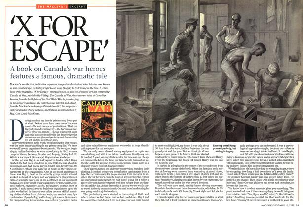 Article Preview: 'X FOR ESCAPE', November 1997 | Maclean's
