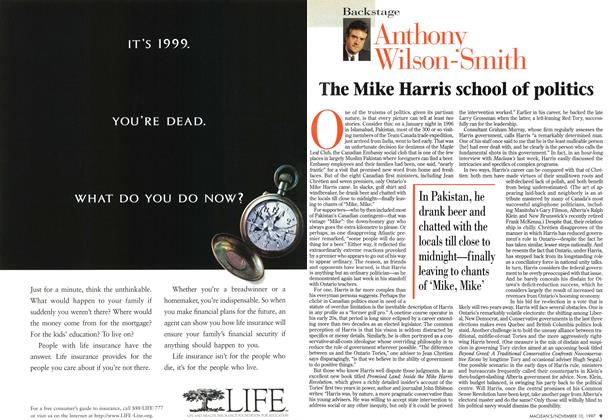 Article Preview: The Mike Harris school of politics, November 1997 | Maclean's