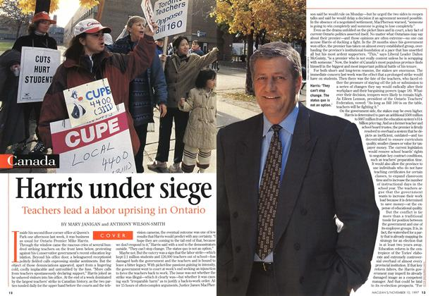 Article Preview: Harris under siege, November 1997 | Maclean's