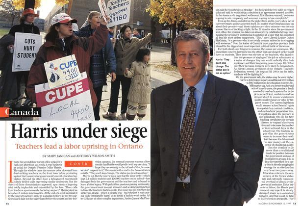 Article Preview: Harris under siege, November 1997 | Maclean's