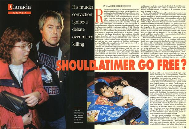 Article Preview: SHOULD LATIMER GO FREE?, November 1997 | Maclean's