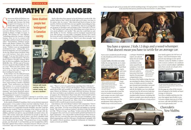 Article Preview: SYMPATHY AND ANGER, November 1997 | Maclean's