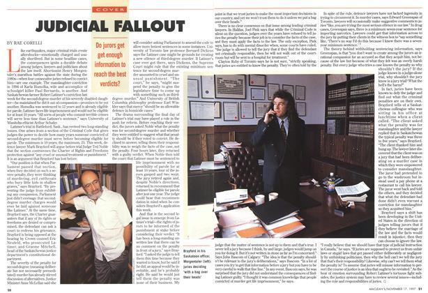 Article Preview: JUDICIAL FALLOUT, November 1997 | Maclean's