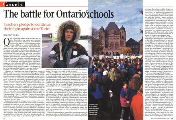 Article Preview: The battle for Ontario's chools, November 1997 | Maclean's