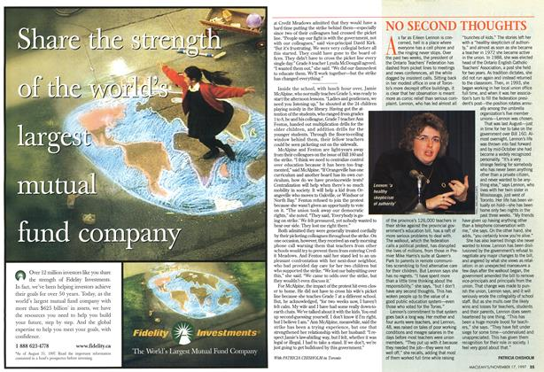 Article Preview: NO SECOND THOUGHTS, November 1997 | Maclean's