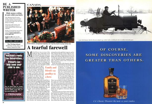 Article Preview: A tearful farewell, November 1997 | Maclean's