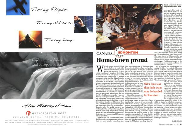 Article Preview: Home-town proud, November 1997 | Maclean's