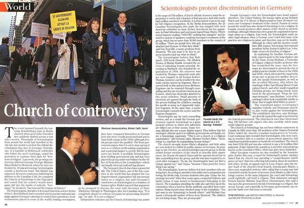 Article Preview: Church of controversy, November 1997 | Maclean's
