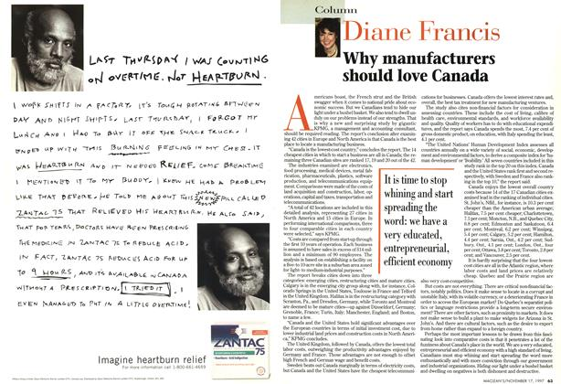 Article Preview: Why manufacturers should love Canada, November 1997 | Maclean's