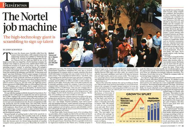 Article Preview: The Nortel job machine, November 1997 | Maclean's