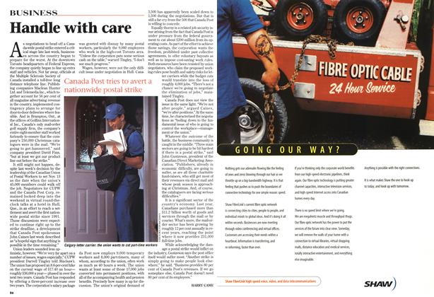 Article Preview: Handle with care, November 1997 | Maclean's