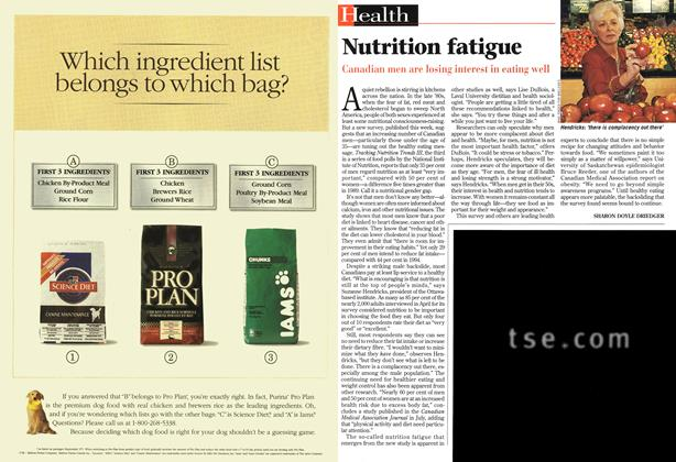 Article Preview: Nutrition fatigue, November 1997 | Maclean's