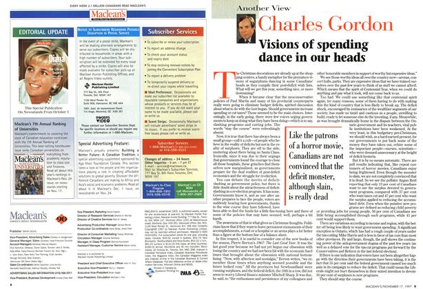 Article Preview: Visions of spending dance in our heads, November 1997 | Maclean's