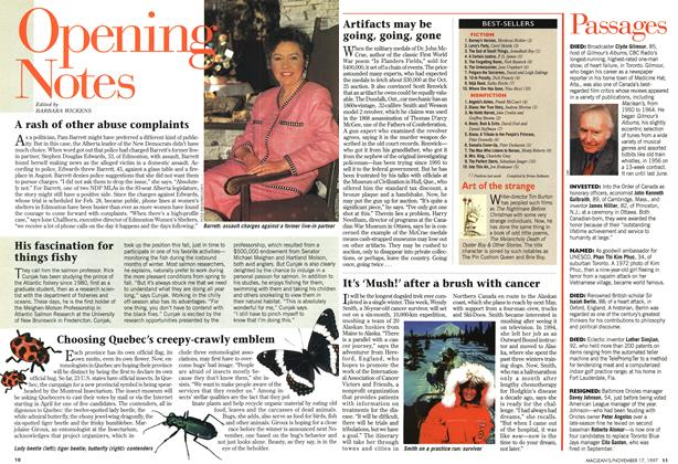 Article Preview: Opening Notes, November 1997 | Maclean's