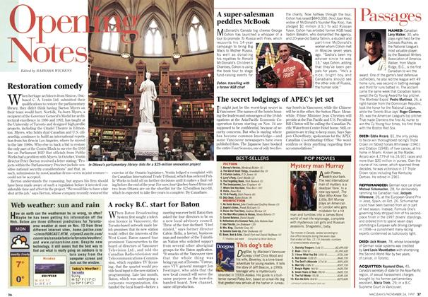 Article Preview: Passages, November 1997 | Maclean's