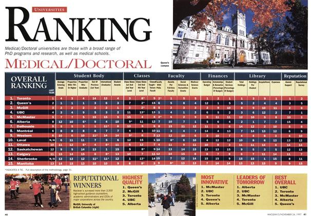 Article Preview: RANKING, November 1997 | Maclean's