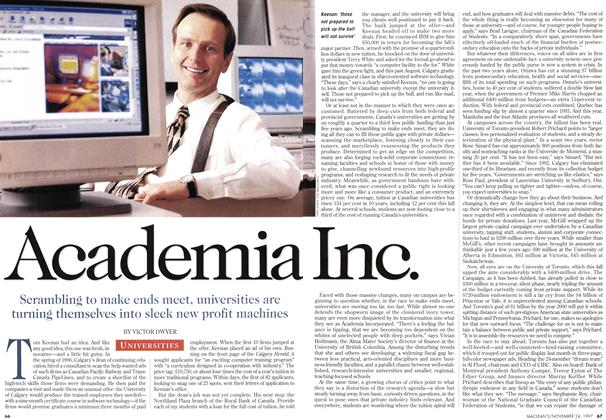 Article Preview: Academia Inc., November 1997 | Maclean's