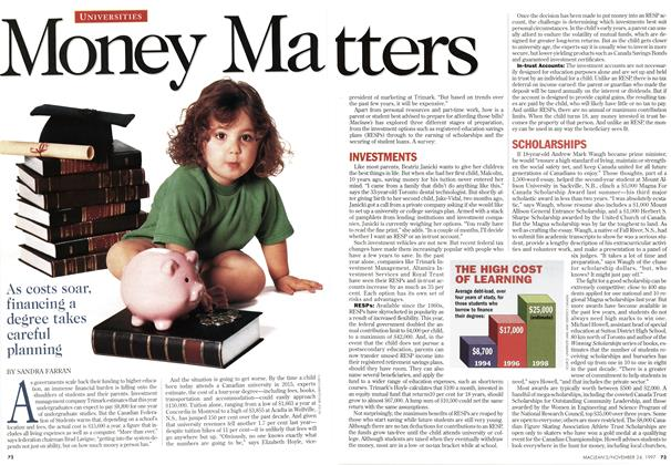 Article Preview: MONEY MATTERS, November 1997 | Maclean's